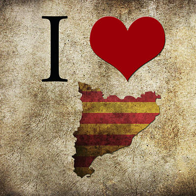I Love Catalonia Art Print by Gina Dsgn