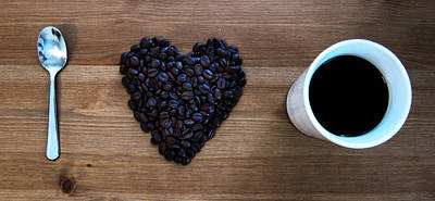 Beans Photograph - I Love Coffee by Nicklas Gustafsson
