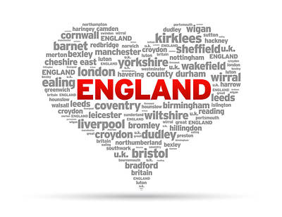 I Love England Art Print by Aged Pixel