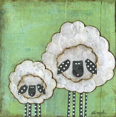Sheep Painting - I Love Ewe So Much by Alli Rogosich