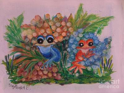 Painting - I Love Frogs by Rachel Carmichael