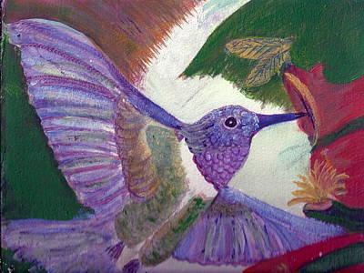 I Love Hummingbirds  Art Print by Anne-Elizabeth Whiteway