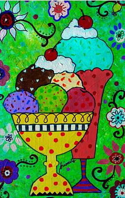 Painting - I Love Ice Cream by Pristine Cartera Turkus