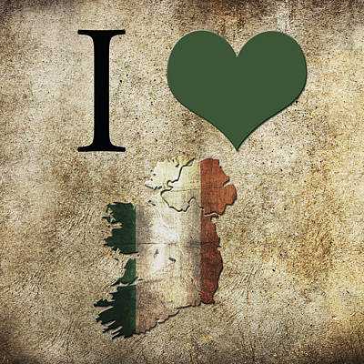 Love Digital Art - I Love Ireland by Gina Dsgn