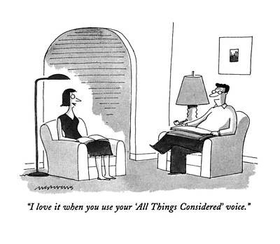 Pretentious Drawing - I Love It When You Use Your 'all Things by Mick Stevens
