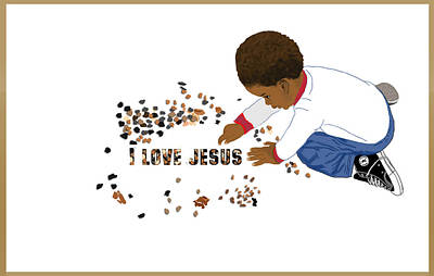 Digital Art - I Love Jesus by Lee McCormick