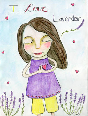 I Love Lavender Art Print