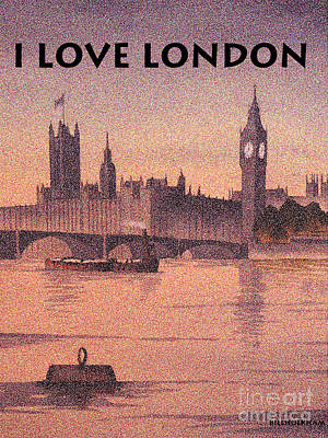 Painting - I Love London by Bill Holkham