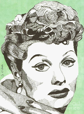 Drawing - I Love Lucy by Cory Still
