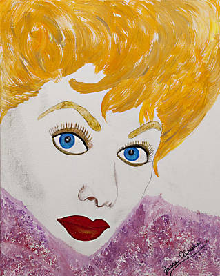 Painting - I Love Lucy by Susan Abrams