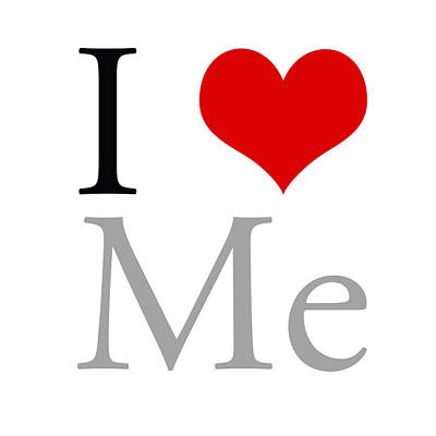 I Love Me Print by Gina Dsgn