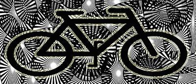 Digital Art - I Love My Bike by Laura Pierre-Louis