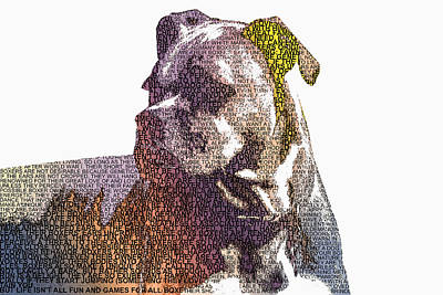 Photograph - Dog - Boxer - Pet - I Love My Boxer by Barry Jones