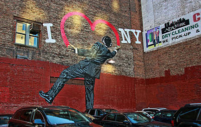 Photograph - I Love New York Mural by Allen Beatty
