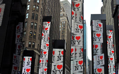 Super Bowl Xlviii Photograph - I Love Ny In Times Square by Diane Lent