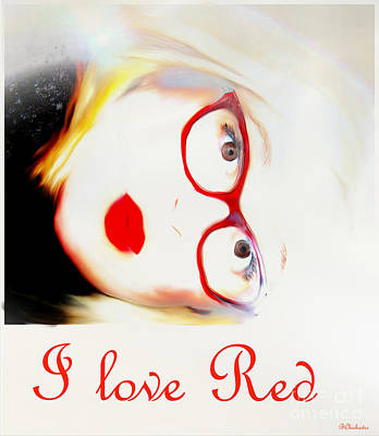 I Love Red Art Print by Barbara Chichester