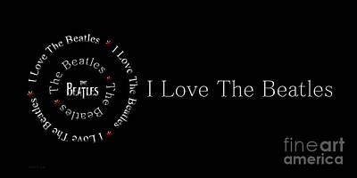 Digital Art - I Love The Beatles Panorama by Andee Design