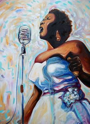 I Love The Blues Art Print by Emery Franklin