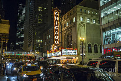 Photograph - I Love The Nightlife State Street Chicago by Linda Matlow