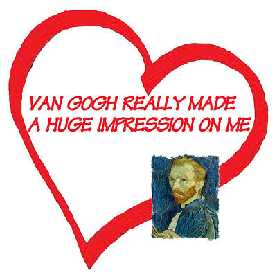 Degas Digital Art - I Love Van Gogh by Philip Ralley