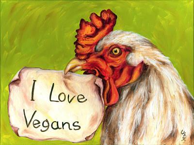 I Love Vegans Art Print by Hiroko Sakai
