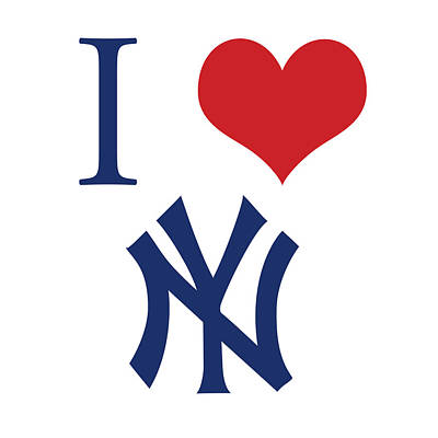 Yankees Digital Art - I Love Yankees by Gina Dsgn