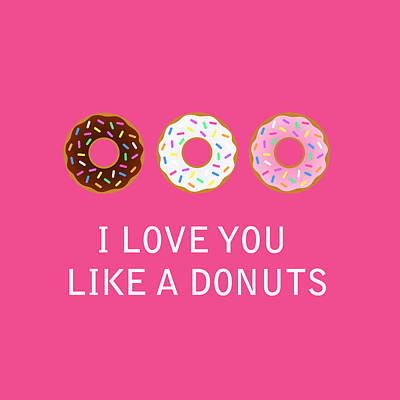 Donut Digital Art - I Love You 7 by Mark Ashkenazi