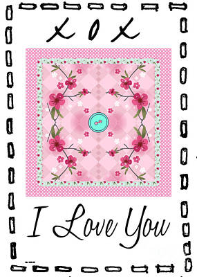 Photograph - I Love You Button by Nina Ficur Feenan