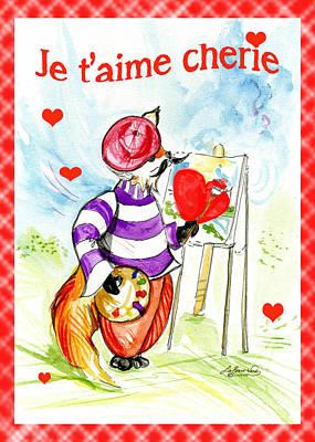 Painter Mixed Media - I Love You Cherie by Lizi Beard-Ward