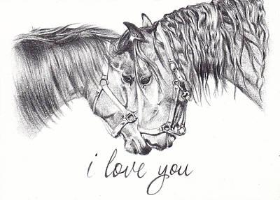 Communion Drawing - I Love You by Dana John