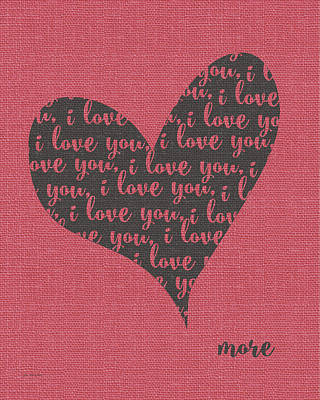 Painting - I Love You Heart by Jo Moulton