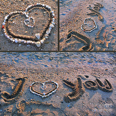 Modern Man Surf - I love you - hearts for Valentines Day by Daliana Pacuraru