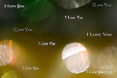 Photograph - I Love You In Light by Marie Jamieson