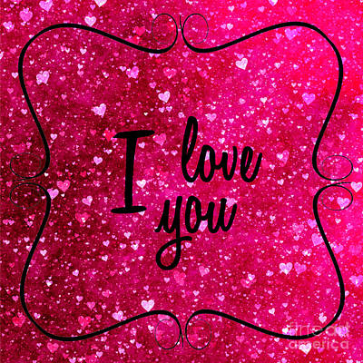 Photograph - I Love You In Pink by Nina Ficur Feenan