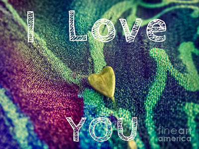 Love Digital Art - I Love You by Justyna JBJart