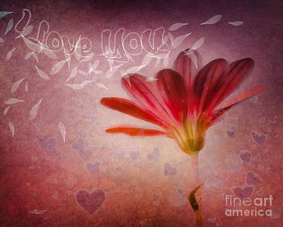 I Love You Art Print by Jutta Maria Pusl