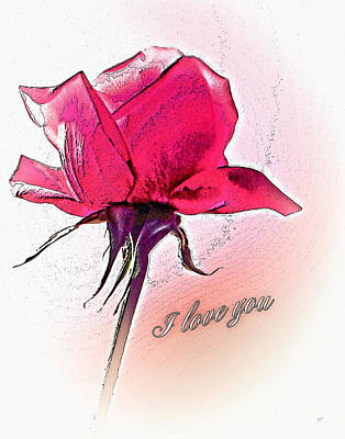 I Love You Art Print by Gerlinde Keating - Galleria GK Keating Associates Inc