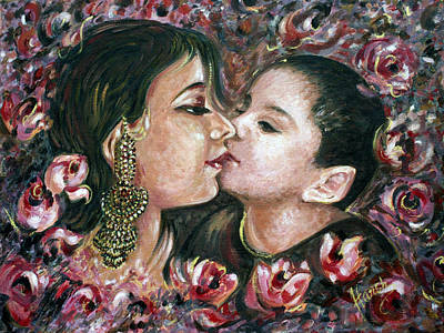 Print featuring the painting I Love You Mom by Harsh Malik