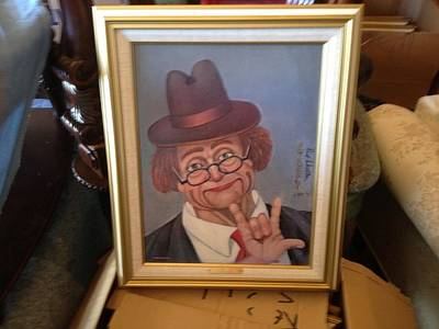 Red Skelton Painting - I Love You by Red Skelton