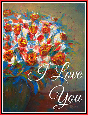 Painting - I Love You by Robie Benve