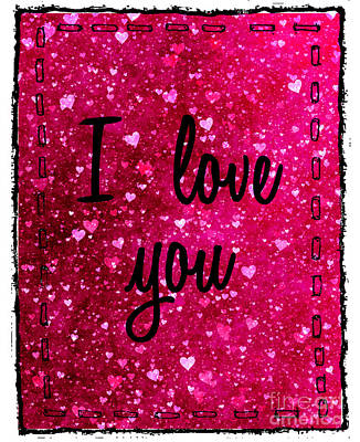 Photograph - I Love You Stitched by Nina Ficur Feenan