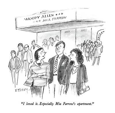 I Loved It.  Especially Mia Farrow's Apartment Art Print by Barney Tobey