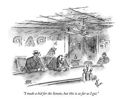Senate Drawing - I Made A Bid For The Senate by Frank Cotham