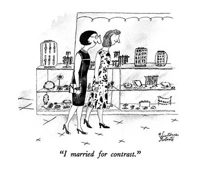 I Married For Contrast Art Print