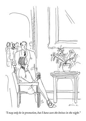 Pensively Drawing - I May Only Be In Promotion by Richard Cline