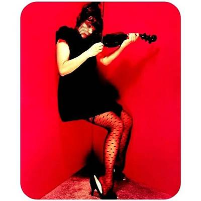 Violin Photograph - I Miss My Violin. #bjork #violin ❤🎻 by Vivian Richardson