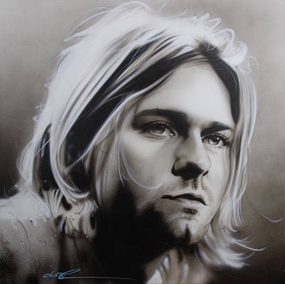 Kurt Cobain Painting - Kurt Cobain - ' I Need An Easy Friend ' by Christian Chapman Art