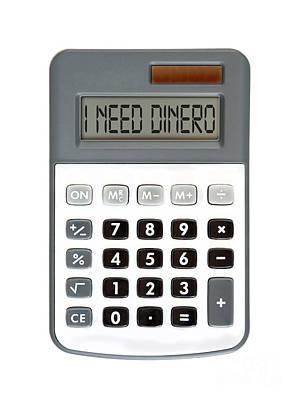 Accountancy Photograph - I Need Dinero by Michal Boubin