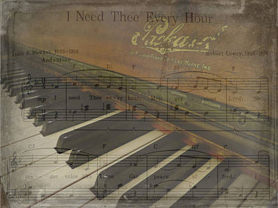 Photograph - I Need Thee Piano by Cindy Wright