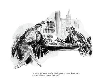 I Never Did Understand A Single Word Of These Art Print by Wallace Morgan